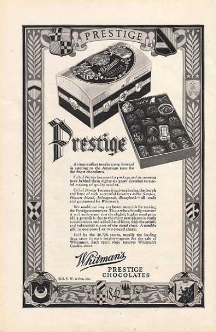 Whitman's Prestige Chocolates (1928)