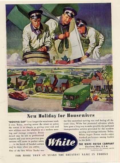 "White Trucks Ad ""New Holiday For... (1945)"