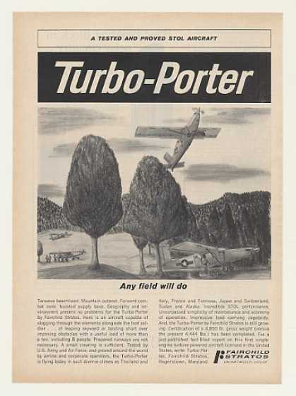 Fairchild Stratos Turbo-Porter STOL Aircraft (1964)