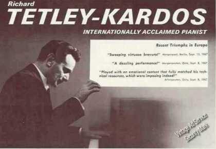 Richard Tetley-kardos Photo Pianist Booking (1967)