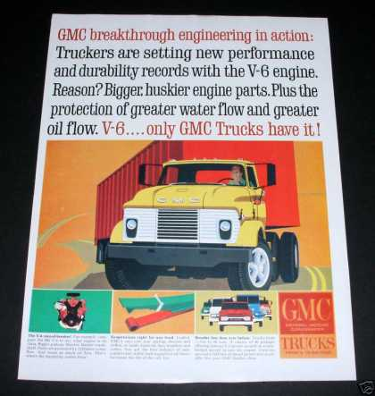 Gmc Trucks, V6 Engines Tall Cab (1964)