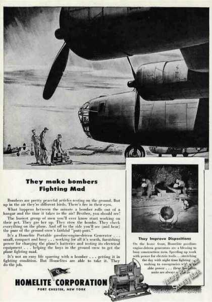 """They Make Bombers Fighting Mad"" Wwii Homelite (1944)"