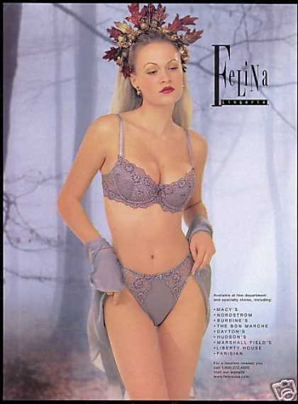 Felina Lingerie Bra Panty Pretty Woman (1998)