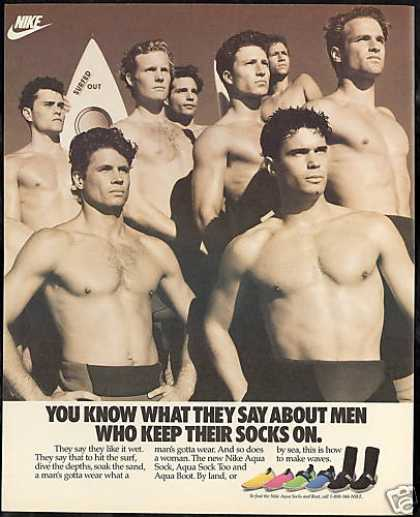 Nike Aqua Socks Surfers Like it Wet (1989)