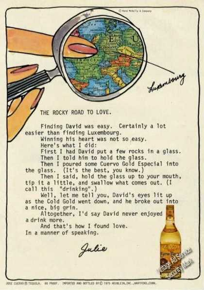 Jose Cuervo Tequila Rocky Road To Love (1976)