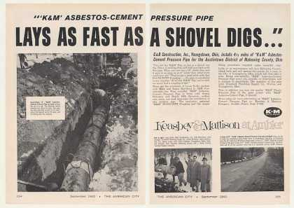 Mahoning County OH K&M Asbestos Cement Pipe 2-P (1960)