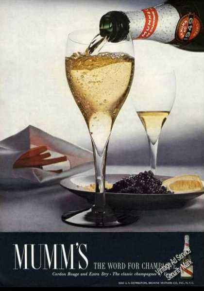 Mumm's the Word for Champagne Rare Color (1955)