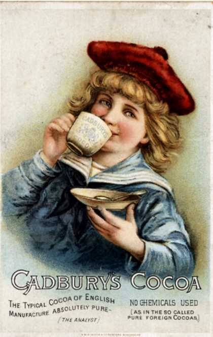 Cadbury&#8217;s, Cocoa Drinking Chocolate, UK (1890)