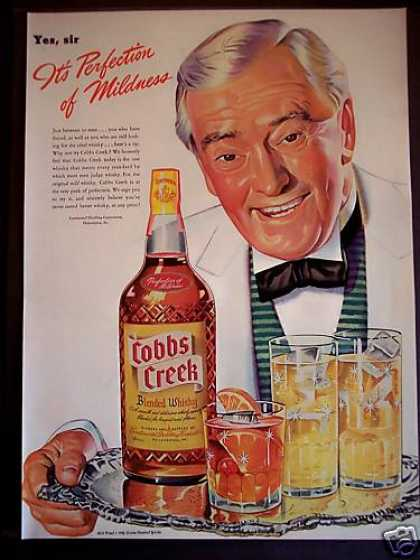 Cobbs Creek Whisky 'perfection of Mildness' (1942)
