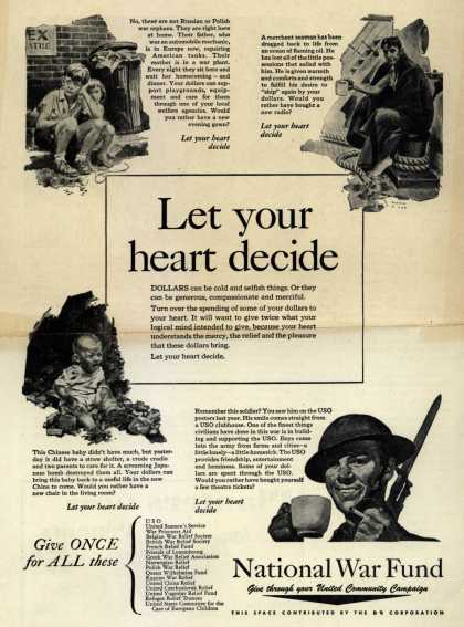 National War Fund – Let your heart decide (1943)