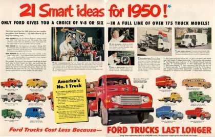 Ford Trucks 17 Models Log-bus-dump-pa (1950)