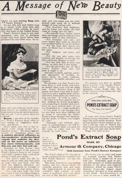 Pond's Extract Co.'s Pond's Extract Soap – A Message of New Beauty (1906)