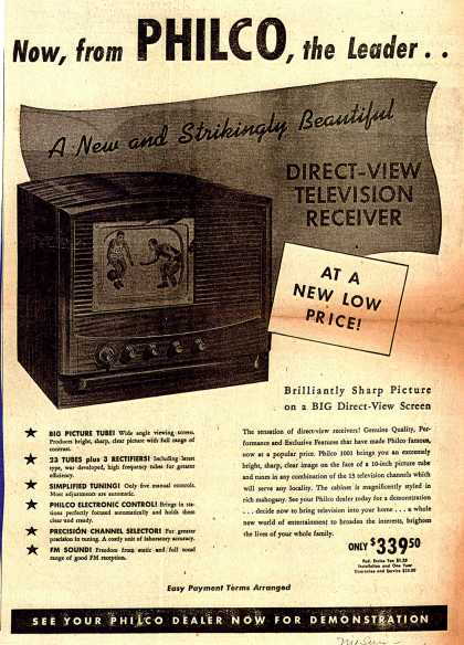 Philco's Television – Now, from PHILCO, the Leader.. (1948)