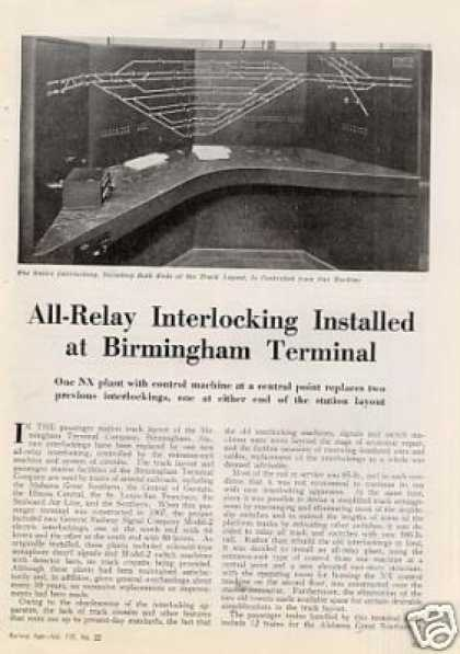 """Interlocking Installed at Birmingham..."" Article (1943)"