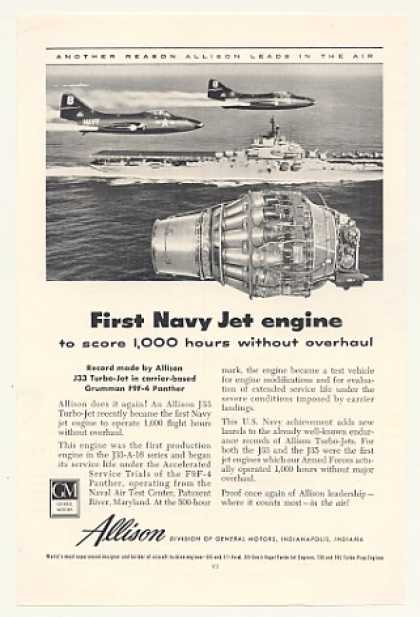GM Allison J33 Turbo-Jet Engine Navy Panther (1953)