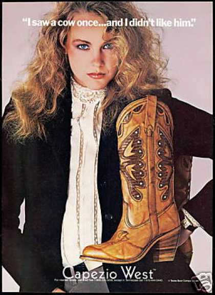 Capezio West Texas Cowboy Boot Co Fashion Photo (1981)