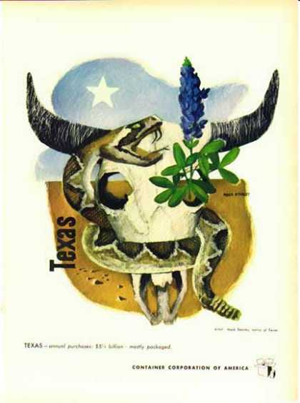 Container Corporation of America – Artist Mack Stanley – Texas (1948)