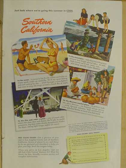 Southern California tourism (1947)