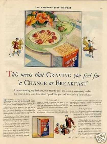 Quaker Puffed Wheat & Rice Cereal (1927)