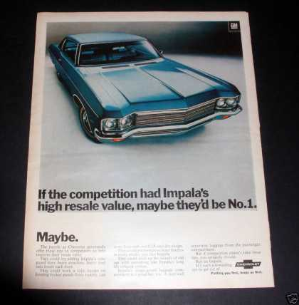Chevrolet Impalla, Putting You First (1970)