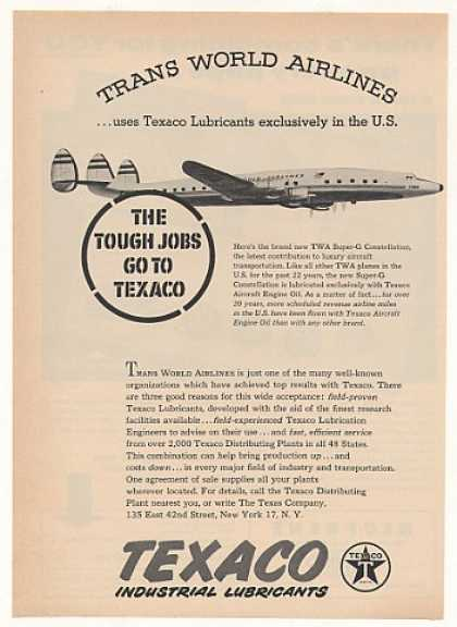 TWA Airlines Super-G Constellation Plane Texaco (1955)