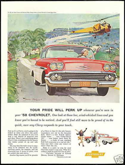 Chevrolet Bel Air Helicopter Crop Duster Art (1958)