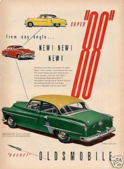 "Oldsmobile Super ""88"" Deluxe Sedan Ad ""From Any... (1951)"