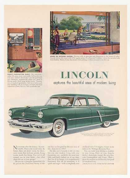 Lincoln Capri 4-Door Ease of Modern Living (1952)