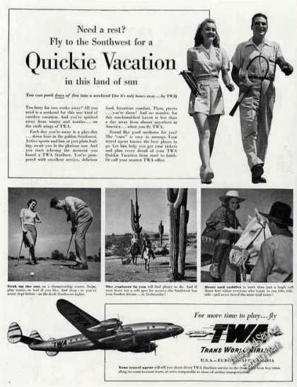 Twa Quickie Vacation To Southwest Constellation (1948)