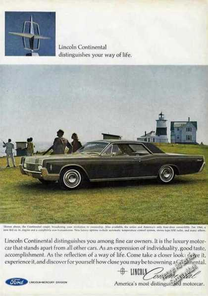 Lincoln Continental at Lighthouse Photo (1966)