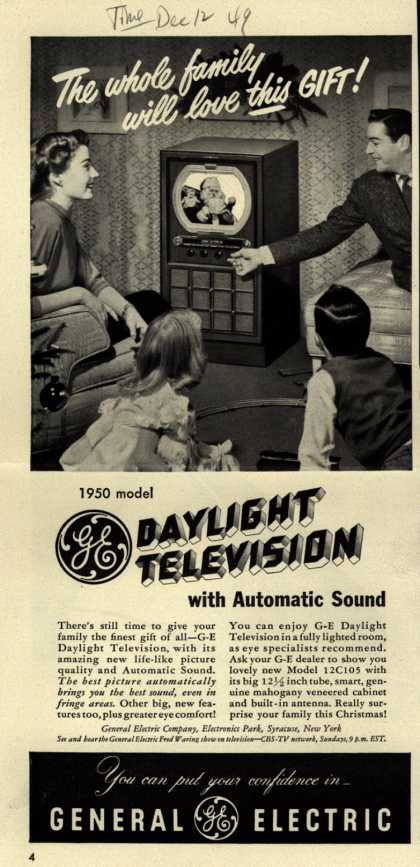 General Electric Company's Daylight Television – The whole family will love this gift (1949)