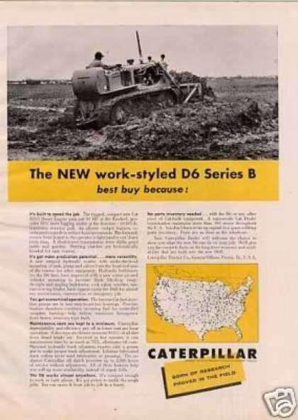 Caterpillar D6 Tractor Ad Series B (1960)