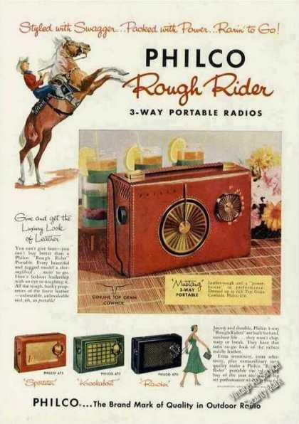 Philco Rough Rider 3-way Portable Radios (1956)