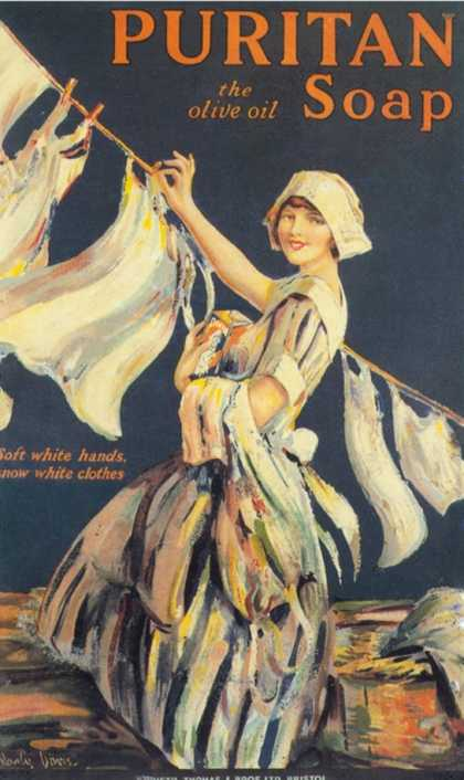 Puritan, Washing Powder Products Detergent, UK (1910)