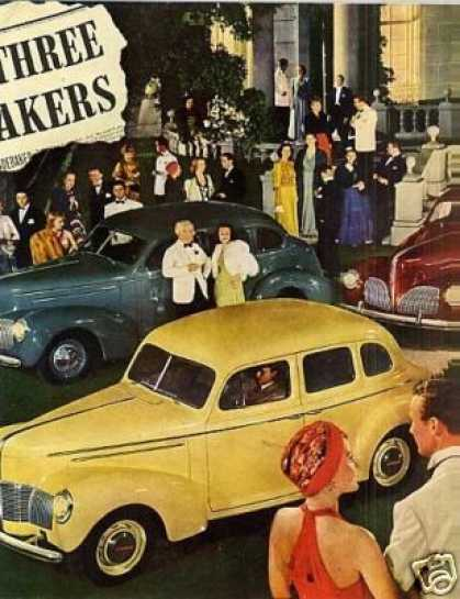 Studebaker Cars Color Ad Centerfold (1940)