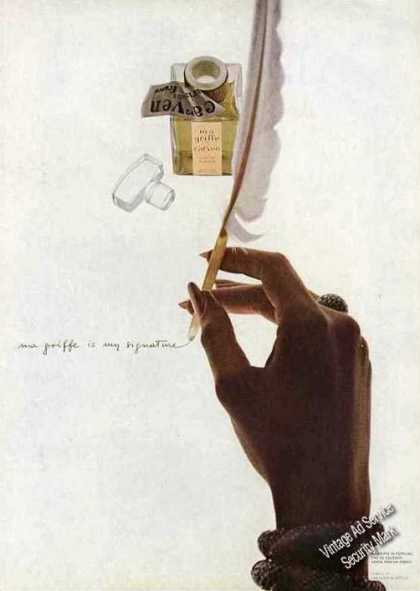 """Ma Griffe Is My Signature"" Impressive Perfume (1967)"