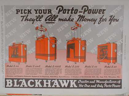 Blackhawk Porto Power They'll all make money for you (1939)