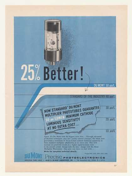 Du Mont Multiplier Phototube 25% Better (1958)