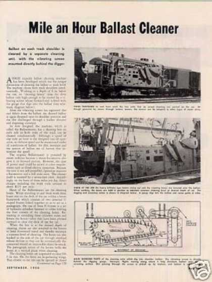 """Mile an Hour Ballast Cleaner"" Article (1950)"