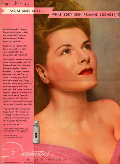 Dermetics – Facial Skin Ages... While Body Skin Remains Younger (1944)