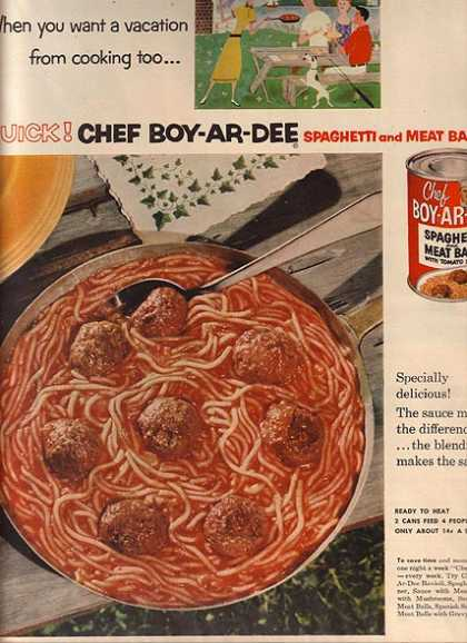 Chef Boy-Ar-Dee's Spaghetti and Meat Balls (1953)