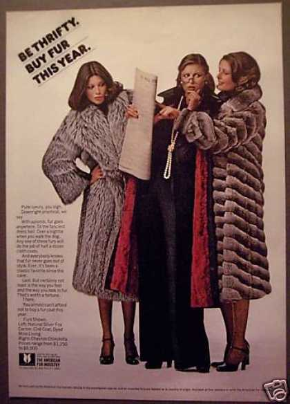 American Fur Industry Fur Coats Fashion (1975)