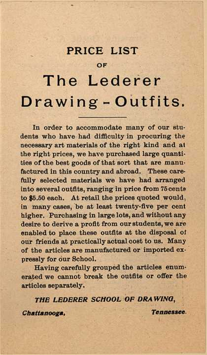 Lederer School of Drawing – Lederer School of Drawing