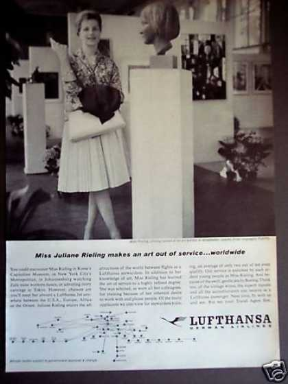 Juliane Rieling Photo Lufthansa Airline (1962)