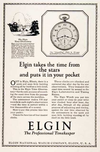 Elgin Streamline Pocket Watch (1923)