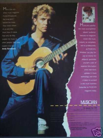Andy Summers Photo Musician Magazine Promo (1985)