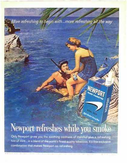 Newport Cigarettes – Scuba Diving Scene (1962)