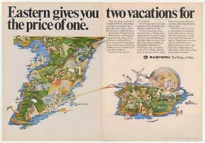 Eastern Airlines Miami San Juan 2 Vacations Dbl (1970)