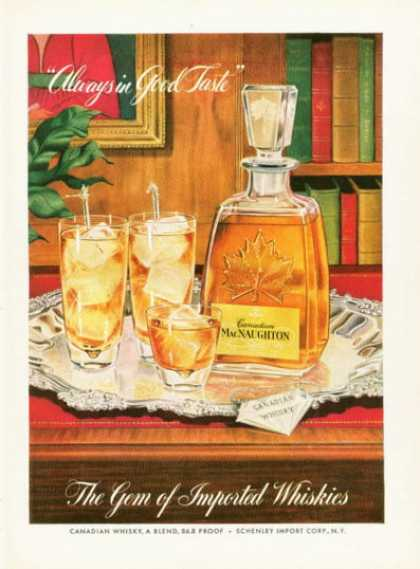 Macnaughton Whiskies Bottle (1955)