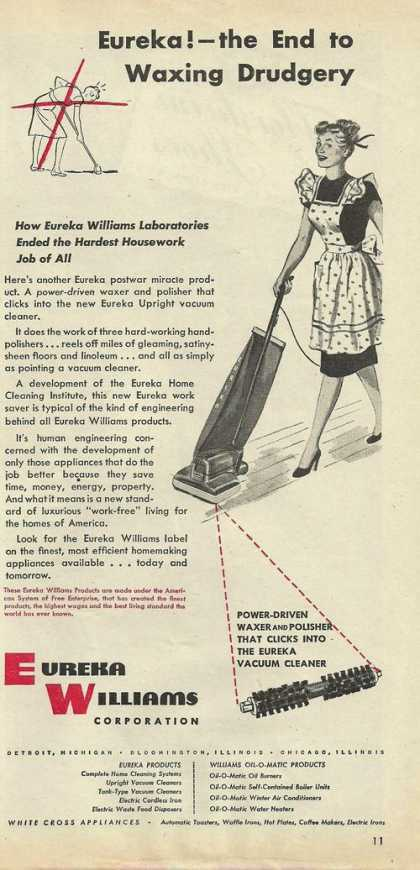 Eureka Williams Vaccum Cleaner (1946)